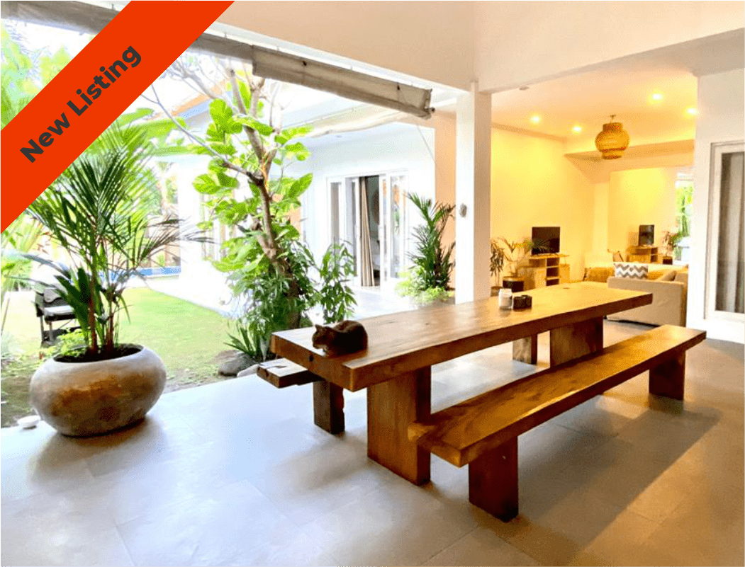 Relaxed lifestyle Berawa 3 bedroom yearly rental